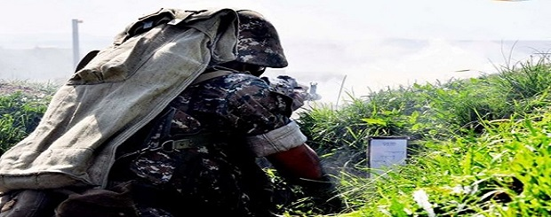 Artsakh soldier in the front line-1