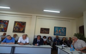 "Friday, September 15, 2017 - People present at the ceremony of creating the Center for Armenian Studies around ""Armenians distant from their national identity"