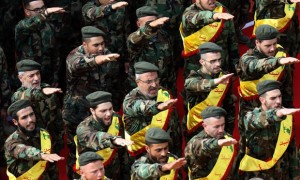 Hezbollah now has 20,000 highly trained fighters, 25,000 reservists and upwards of 100,000 missiles, according to estimates. Photograph: Mahmoud Zayyat/AFP/Getty Images